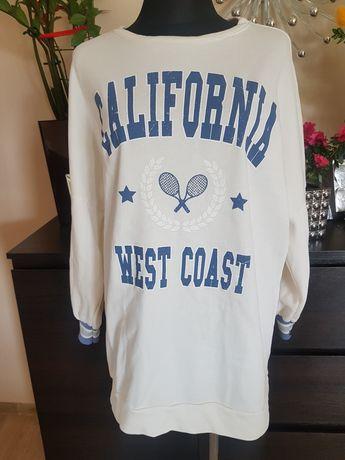 Biała bluza z napisem 42 XL