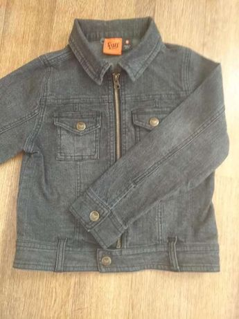 Пиджак джинсовый темно—серый