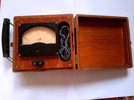 Амперметр в деревянном корпусе