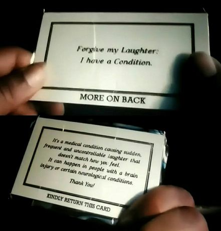 Réplica Joker Filme (2019) - Laughter Condition Card