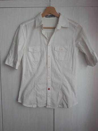 Biała koszula na krótki rękaw Troll, r. XS