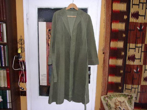 Sprzedam płaszcz damski zamszowy (zielony).