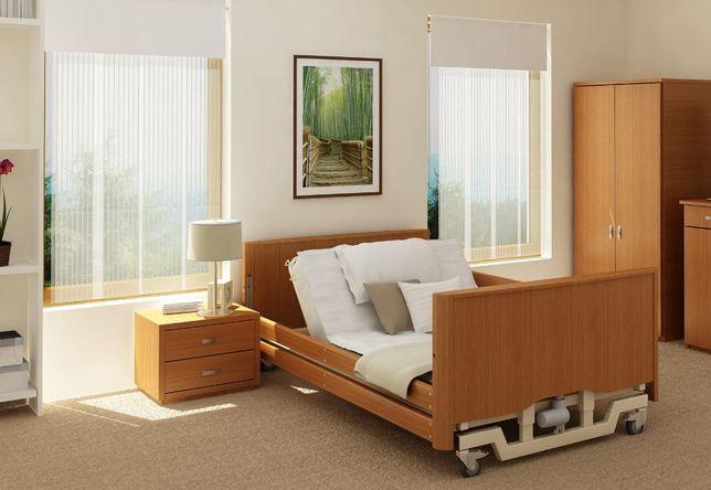 Łóżko rehabilitacyjne 120 cm, szafka, materac