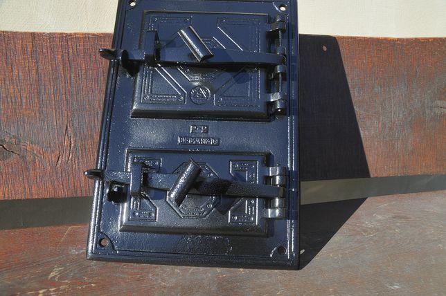 drzwiczki polskie żeliwne wędzarnia kominek