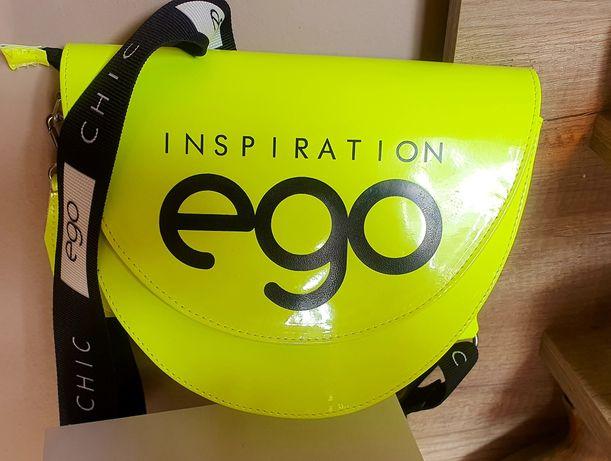 Neonowa torebka żółta półksiężyc ego