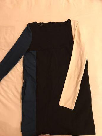 Интересное стильное платье! Осень- весна. С карманами)