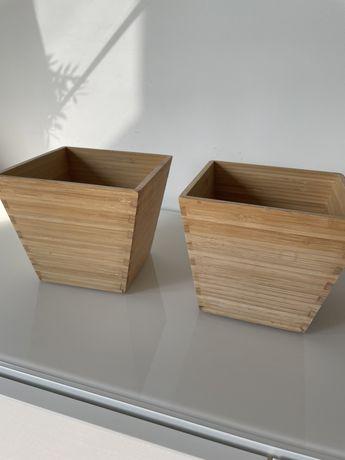 Doniczka Vildapel z Ikea bambus