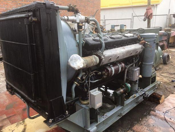 Дизель генератор 200кВт,на базе двигателя 1Д12, 220 часов наработки,