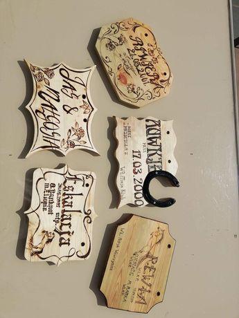Tabliczki na boks dla koni, psów, personalizowane
