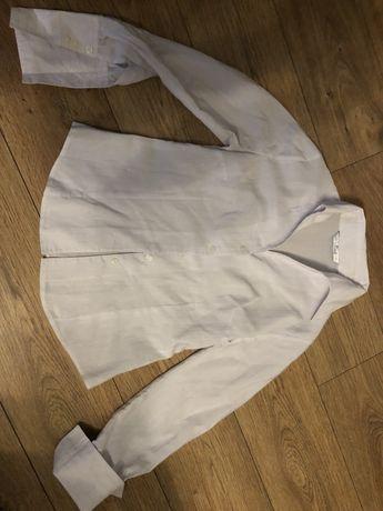Biała koszula srebrne prążki mertex 40