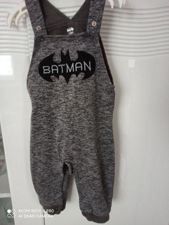 Ogrodniczki, spodnie Batman