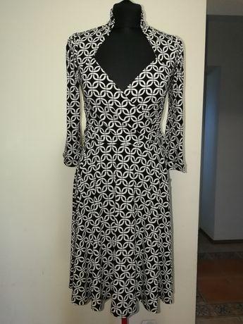 Nowa sukienka La Belle biało czarna z USA