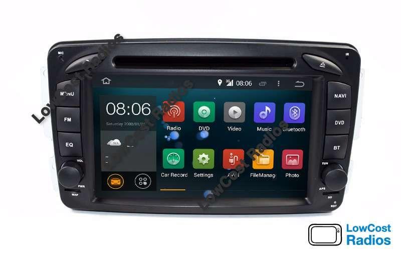 2021: Auto Rádio GPS Mercedes Class C Android 10 - W203 e W209 São Mamede De Infesta E Senhora Da Hora - imagem 1