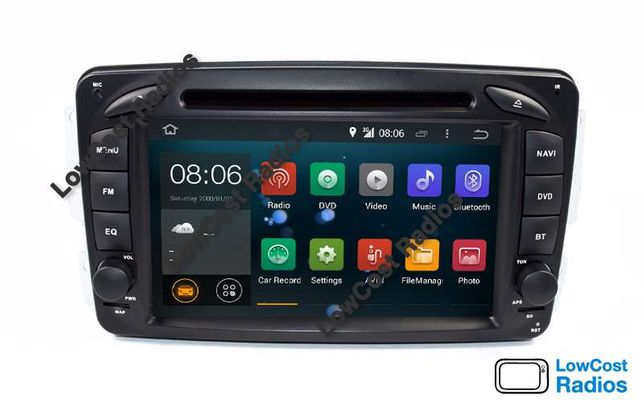 2021: Auto Rádio GPS Mercedes Class C Android 10 - W203 e W209