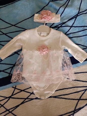Новое платье-боди для девочки
