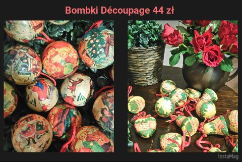 Bombki découpage