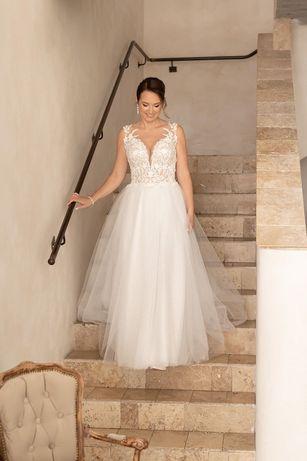 Suknia ślubna - S158 Salon Mendelssohn - 38/40 - kremowa, stan idealny