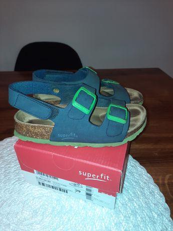 Sandałki Superfit 29 profilowane wkładka 18,5cm