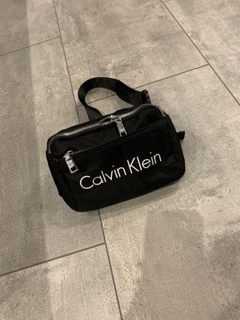 Calvin Klein nerka saszetka torebka damska męska nowa czarna