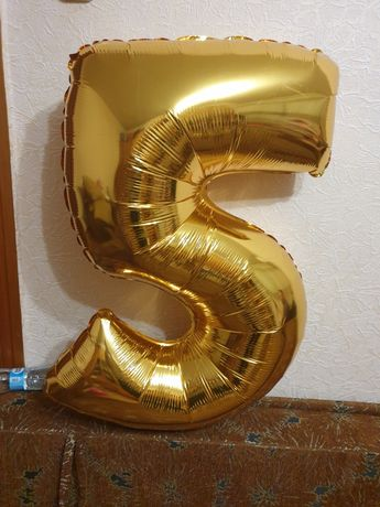 Продам фольгированную цифру 5