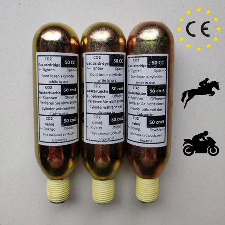 3x naboje CO2 50 cm3 do kamizelki jeździeckiej saferide hit-air helite