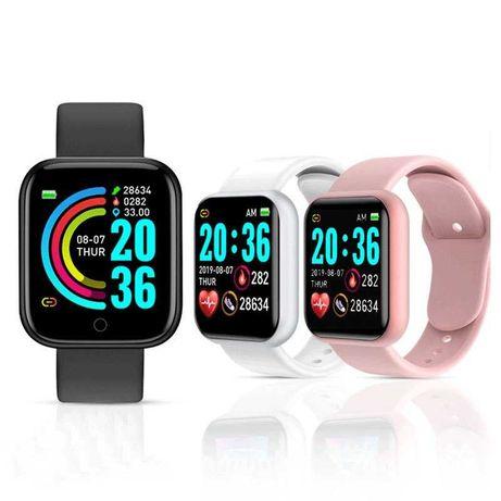 Смарт-часы Y68 с шагомером, пульсометром (дизайн Apple Watch series 3)