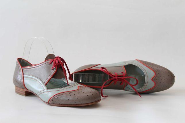 C DOUX ANNA POLLEN - skórzane buty NOWE r. 42