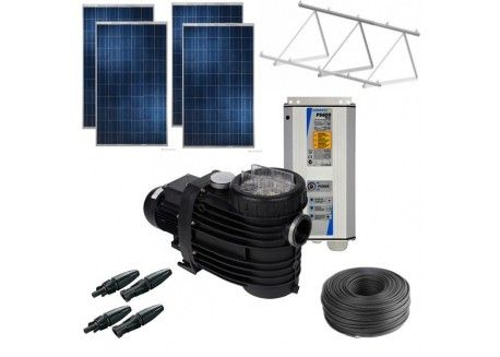 Kit de tratamento de águas piscinas até 90m3 com painéis solares