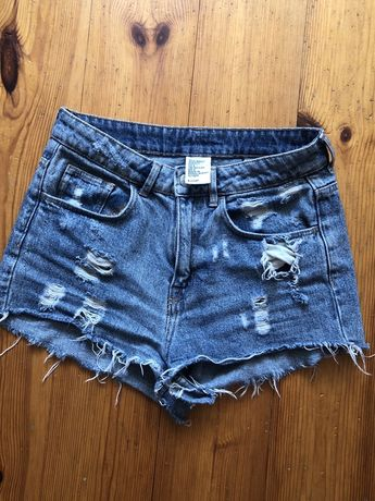 Jeansowe szorty spodenki H&M 34