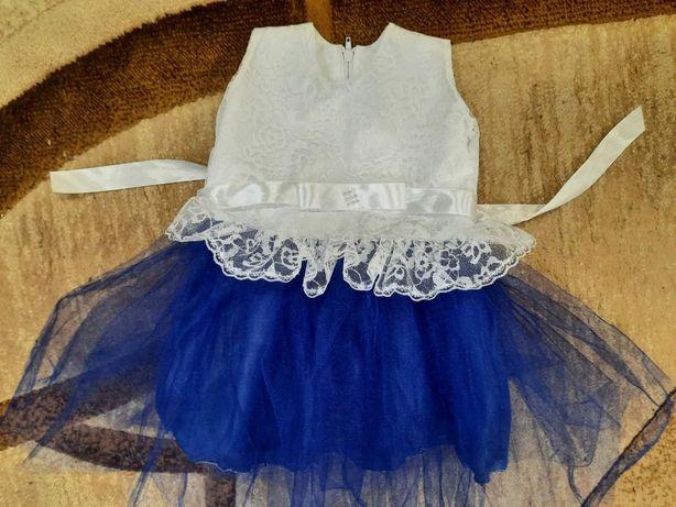Нарядное платье с фатином пышное 1-3 г
