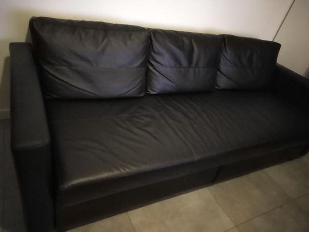 Sofa 3-osobowa rozkładana ekoskóra