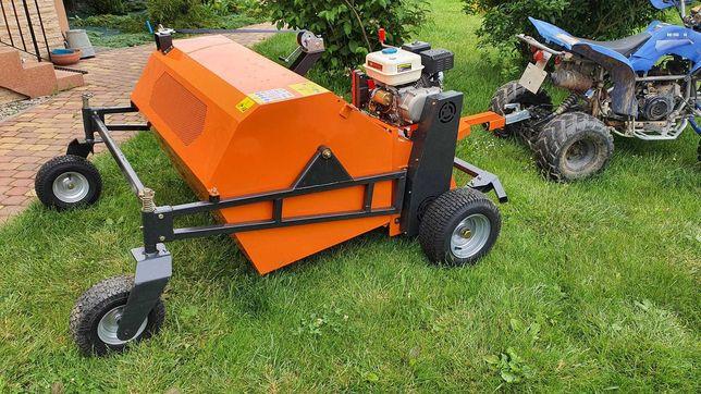 Zamiatarka do liści trawy quada ciągana z silnikiem odchodów końskich