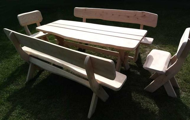 Meble ogrodowe, drewniane (Dostępne od ręki!)
