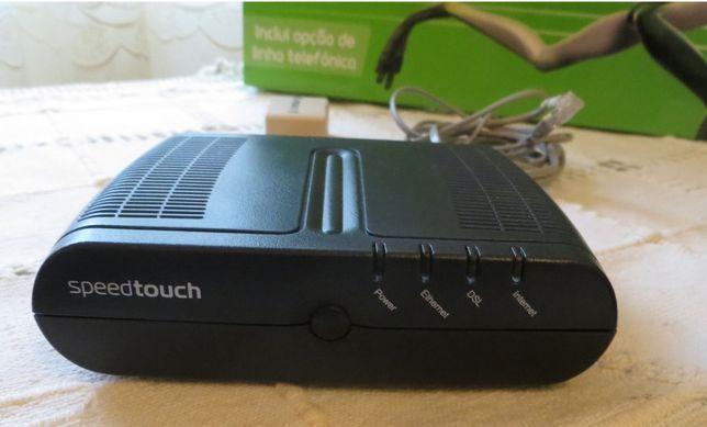 Modem ADSL Sapo SpeedTouch c/ acessórios - Novo