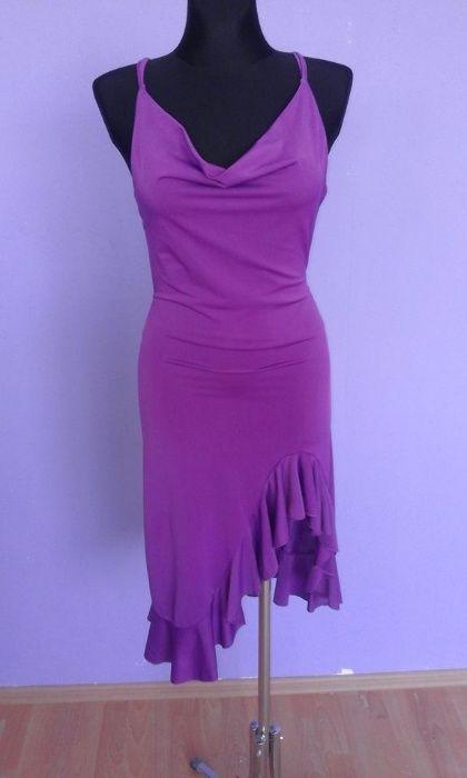 Fioletowa sukienka z odkrytymi plecami r. uniwersalny Warszawa - image 1