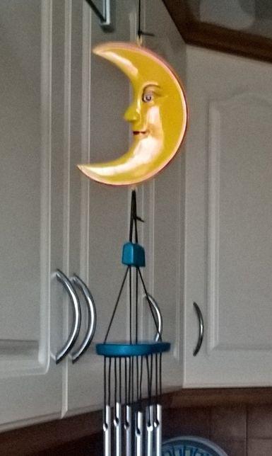 Ozdoba na żyrandol, okno lub drzwi - dwa księżyce