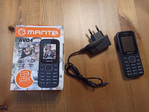 Manta AVO4 sprawny telefon z ładowarką i pudełkiem