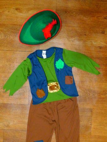 костюм Робин Гуд 7-9 лет новогодний карнавальный питер пен с головным