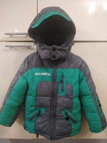 Теплая зимняя куртка пуховик Bolaihidon на 4 года 104 рост