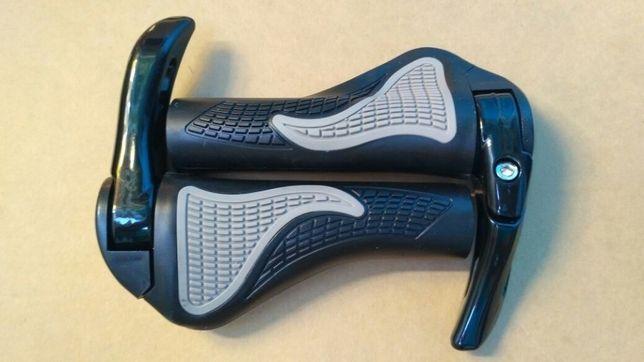Эргономичные велосипедные грипсы с алюминиевыми рожками