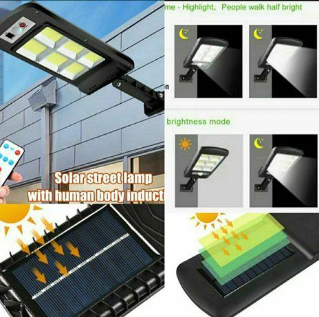 Lampa solarna panel słoneczny Czujnik ruchu + Pilot
