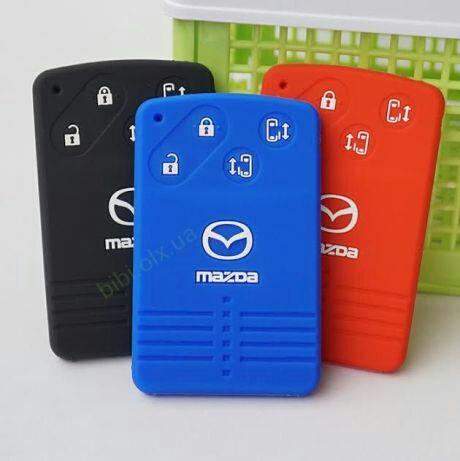 Чехол для ключа карты Mazda CX7,CX9,5,6,8 3/4 кнопки и другие модели