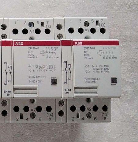 Модульний контактор ABB ESB 24-40 48V AC/DC пускач 48В пускатель 4H0