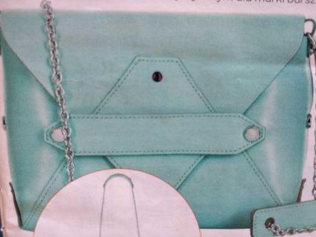 Nowa torebka torba Batycki skóra naturalna lazurowa limitowana