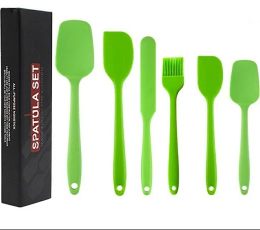 Zestaw Silikonowych przyborów kuchennych łopatek 6 sztuk szpatułka