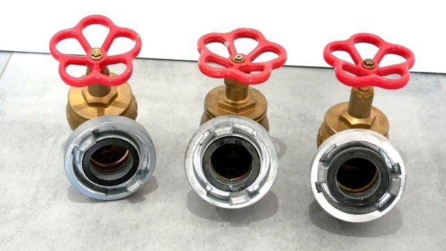 Zawór hydrantowy 52 mosiężny z nasadą (3sztuki) Nowy