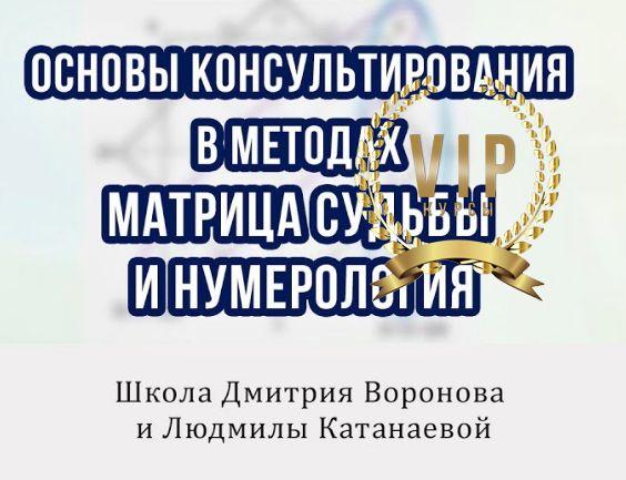 Основы в методах Матрица Судьбы и Нумерология(Дмитрий Воронов)