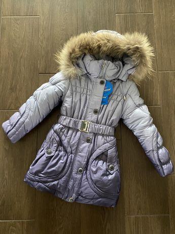 Куртка на девочку зима 122