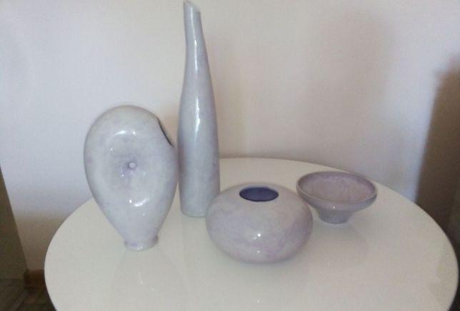 Zestaw ceramiczny / wazony 4 elementy
