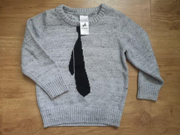 Sweterek palomino dla chłopca